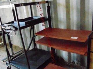 Desk on wheels 32 x 25 x 50   AV cart 32 x 27x 54
