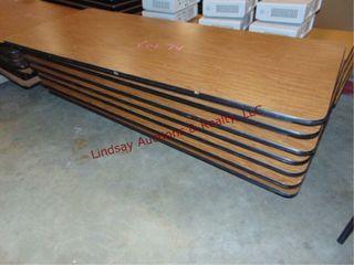 1 pallet w  7 folding tables 72 x 30