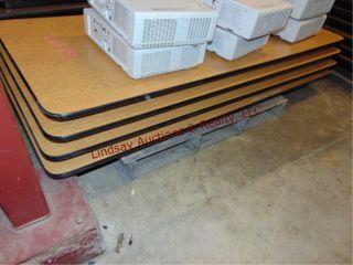 1 pallet w  4 folding tables 72 x 30