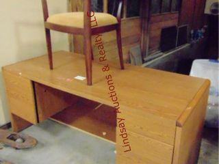 lot w  desk   chair 65 5 x 30 x 30