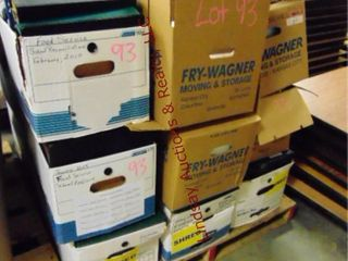 Pallet of 3 ring binders  various sizes   colors