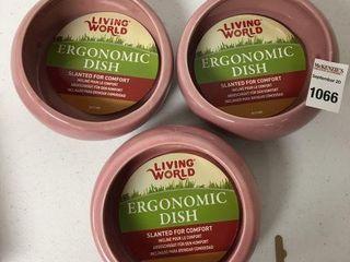 3PCS lIVING WORlD ERGONOMIC DISH