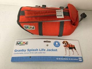 GRANBY SPlASH lIFE JACKET FOR DOGS 15 30lBS