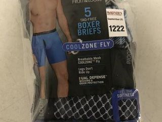 5 PCS FRUIT OF THE lOOM MENS BOXERS SIZE 28 30