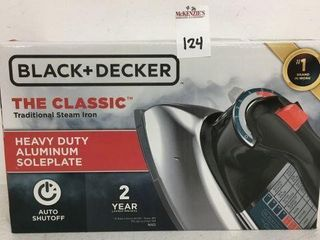 BlACK   DECKER STEAM IRON