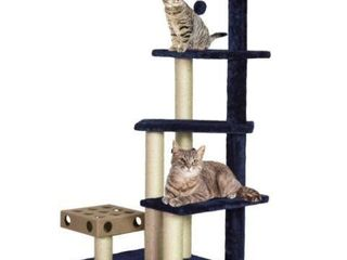FURHAVEN TIGER TOUGH STAIRS CAT TREE HOUSE