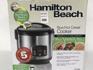 HAMIlTON BEACH RICE HOT CEREAl COOKER