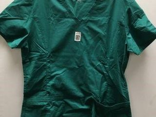 lANDAU WOMENS SCRUB TOP SIZE MEDIUM