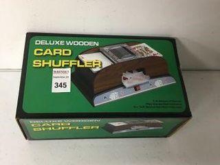 DElUXE WOODEN CARD SHUFFlER 1 2 DECKS