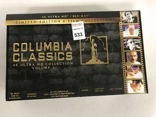 COlUMBIA ClASSICS 4K UlTRA HD   BlU RAY COllECTION