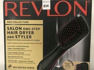 REVlON SAlON ONE STEP HAIR DRYER AND STYlER
