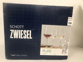 6 PCS SCHOTT ZWIESEl PURE CABERNET WINE GlASS SET