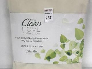 THE ClEAN HOME COllECTION PEVA SHOWER CURTAIN