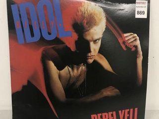 BIllY IDOl REBEl YEll VINYlY RECORD AlBUM