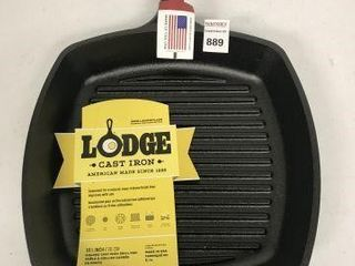 lODGE 10 5  SQUARE CAST IRON GRIll PAN