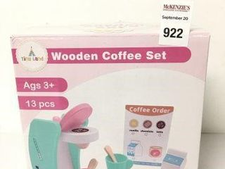 TINY lAND WOODEN COFFEE SET  AGES 3 YEARS