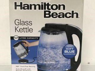HAMIlTON BEACH GlASS KETTlE 1 7l