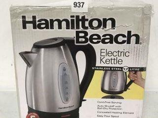 HAMIlTON BEACH ElECTRIC KETTlE 1 7l