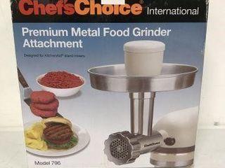 CHEF S CHOICE PREMIUM METAl FOOD GRINDER
