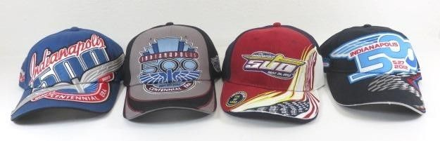 Four New Indianapolis 500 Ball Caps Dated 2009,