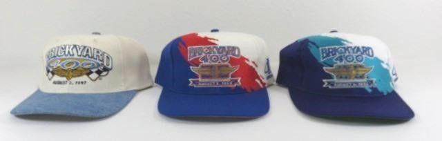 Three New Brickyard 400 Ball Caps - 1995, 1996,
