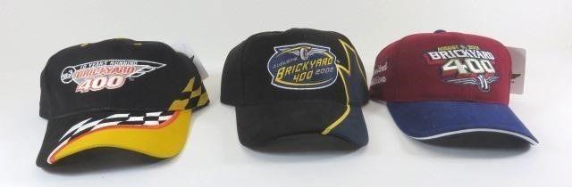 Three New Brickyard 400 Ball Caps - 2001, 2002,