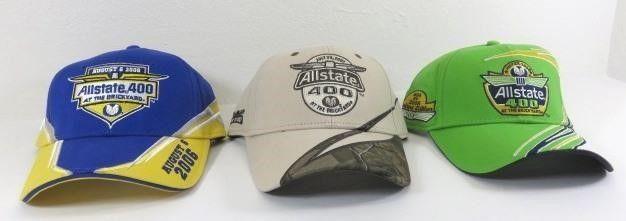 Three New Brickyard 400 Ball Caps - 2006, 2007,