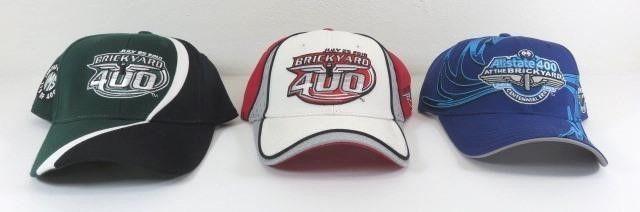 Three New Brickyard 400 Ball Caps - 2009 And Two