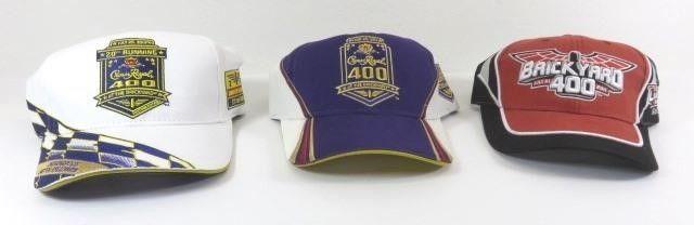 Three New Brickyard 400 Ball Caps - 2011, 2012,