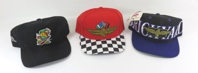 Three Indianapolis Motor Speedway Ball Caps-