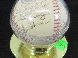 Signed Baseball From The 1984 World Series
