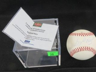 Gaylord Perry Signed Baseball With A Coa