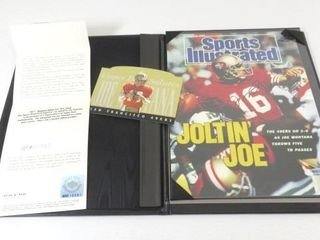 Autographed Joe Montana Sports Illustrated Cover