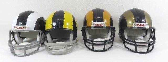 Four Different Replica Mini Helmets Of The Los