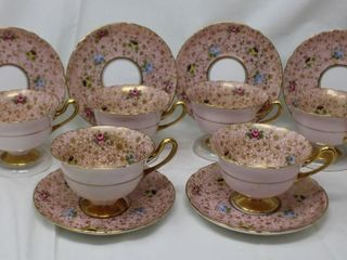 Shelley ROSE, PANSY, FORGET-ME-NOTS Chintz 6 cups,