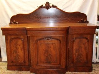 Mahogany Victorian carved back 2 piece Side