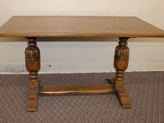 Jacobean style oak dining table