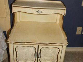 French Provincial One drawer 2 door bedside