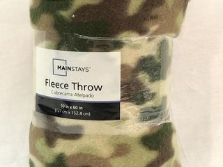 New 50in x 60in Camouflage Fleece Throw