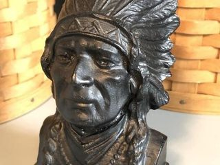 Handcrafted Coal Indian Chief Head