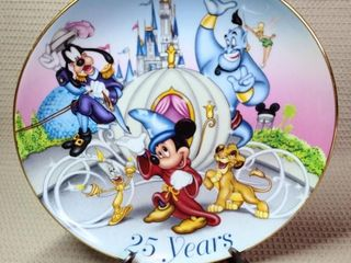 Walt Disney World Collector Plate 25th Anniversary