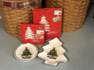 Set of 2 Salems Christmas Eve Trinket Trays
