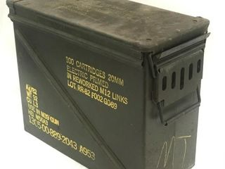 Large US Military Metal Ammo Box for M39