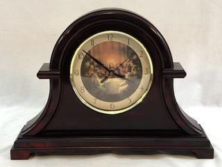 Faux Wood/ Tortoise Shell Mantle Clock