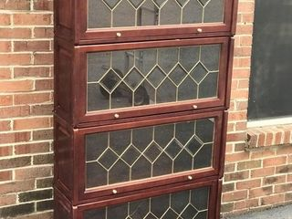 Barrister Bookcase w/Leaded Glass