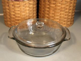 Anchor Hocking Clear Glass 2qt Round Casserole