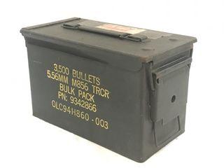 US Military Metal Ammo Box 5.56mm M856