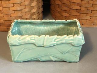 Vintage McCoy USA Aqua Ribbon/Ivy (?) Planter