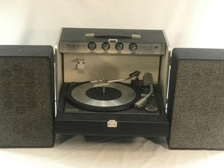 Antique GE Record Player Trimline Stereo 500