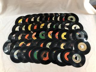 Lot of 49 Vinyl 45?s All Dated from the 70?s